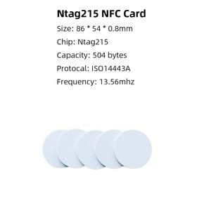 Image 2 - 50 قطعة NTAG215 بطاقة NFC عملة العلامة ل TagMo منتدى Type2 بطاقات شعارات NFC Ntag 215 رقاقة 504 بايت قراءة الكتابة شحن مجاني