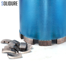 10 шт./лот, диаметр 92 мм-117 мм, Алмазная коронка типа Shark, сегменты с 24*3,5*12 мм для влажного бурения бетона