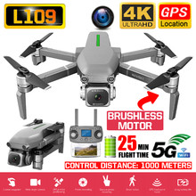 RC Quadcopter L109 Drone GPS 4K HD Camera 5G WIFI FPV Brushless Motor Foldable Selfie Drones Professional 1000m Long Distance(China)