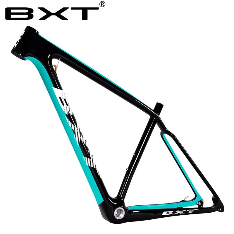 BXT Carbon Mountain Bike Frame 29er UD BSA Carbon Mtb Bicycle Frame T800 Carbon Fibre Frame Bike Disc 29er Carbon Cycling Frame
