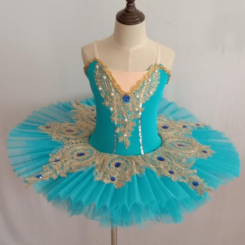 Adult Professional Ballet Platter Kid Tutu Skirt Dance Dress Ballet Blue Costume