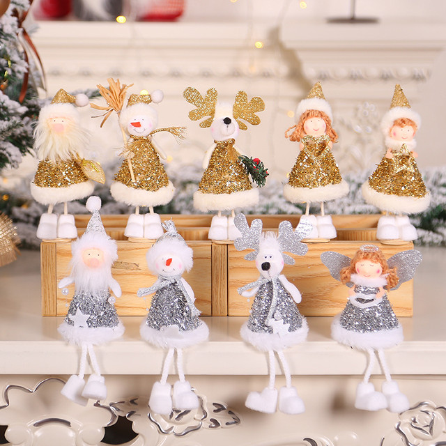New Year 2020 Merry Christmas Ornaments Christmas Angel Elf White Christmas Decorations for Tree Toy Xmas Decor Swiateczne Natal 16