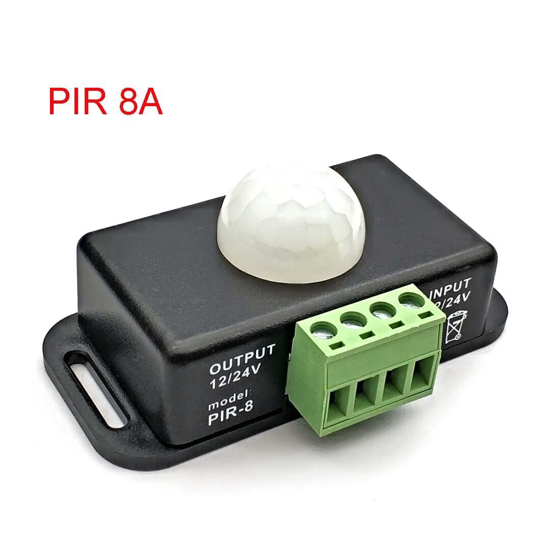DC 12V 24V 8A автоматическая регулируемая движения PIR Сенсор переключатель ИК инфракрасный детектор светильник Модуль автоматического включения света для Светодиодные ленты светильник