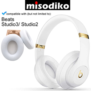Image 4 - misodiko Replacement Memory Foam Ear Cushion Leather Earpads for Beats Studio 3.0 & 2.0 Wired/ Wireless B0500 B0501 Headphones
