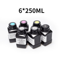 Domsem 250 Ml 5 Botol/Set UV Tinta untuk Epson 1390 L800 1400 1410 1430 untuk DS A4 A3 UV Printer SGS Sertifikasi(China)