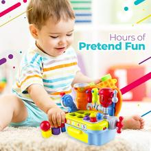 Plastic Workbench Baby Kids Children Pretend Play Tool Set Electric Toy with Music and Light Toys For