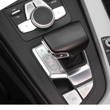 Lsrtw2017 Abs Car  Central Control Button Panel Gear Multi-media Trims for Audi A4 2017 2018 2019 2020