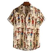 Rainbow Big Boys Mens Party Bucks Night Hawaiian ShirtPlus Size