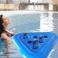 Надувные держатели для напитков ПВХ плавающие напитков лоток чашки питья пива держатель поплавки мобильный чашка и блюдце для бассейна веч...