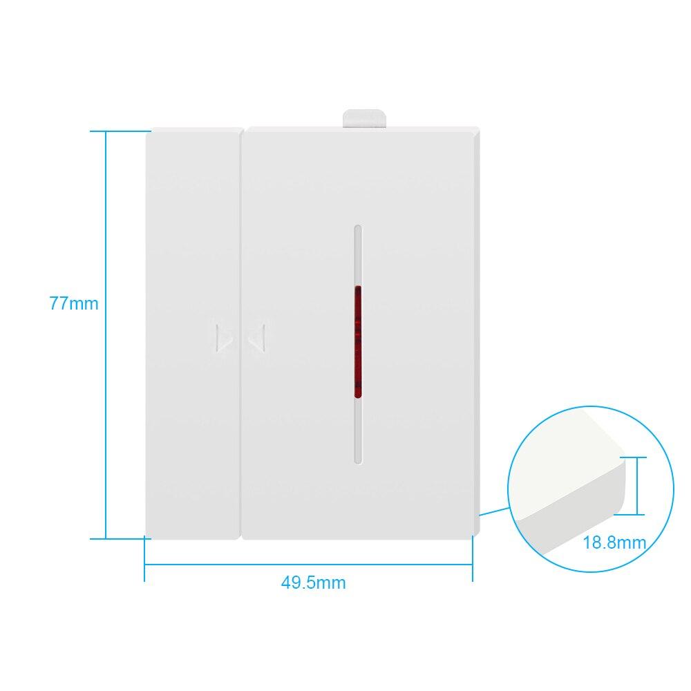 Czujnik alarmu okna drzwi 433mhz WiFi automatyka bezprzewodowa Alarm antykradzieżowy dla inteligentnego system alarmowy do domu