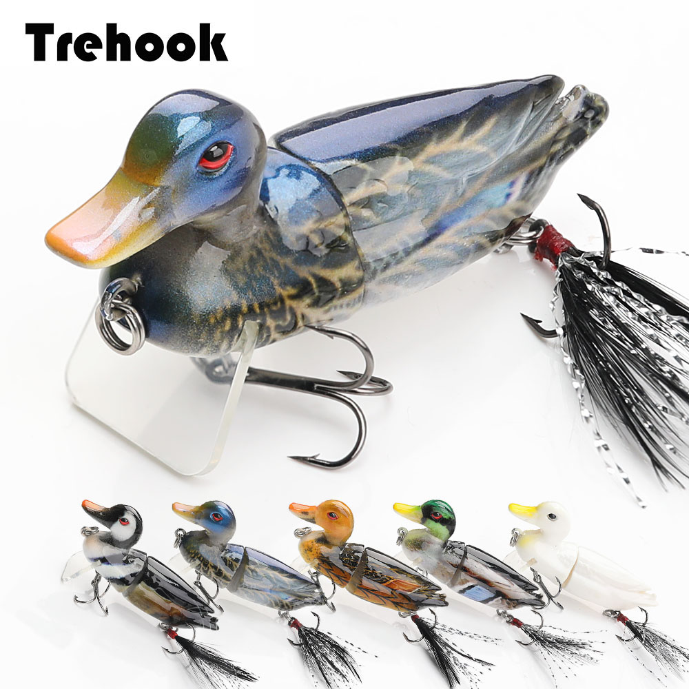 TREHOOK Duck Fishing Lures Swimbait 7cm 10g Floating Minnow Wobblers For Pike Fishing Artificial Hard Bait Cranks Jointed Wobler-in Fishing Lures from Sports & Entertainment