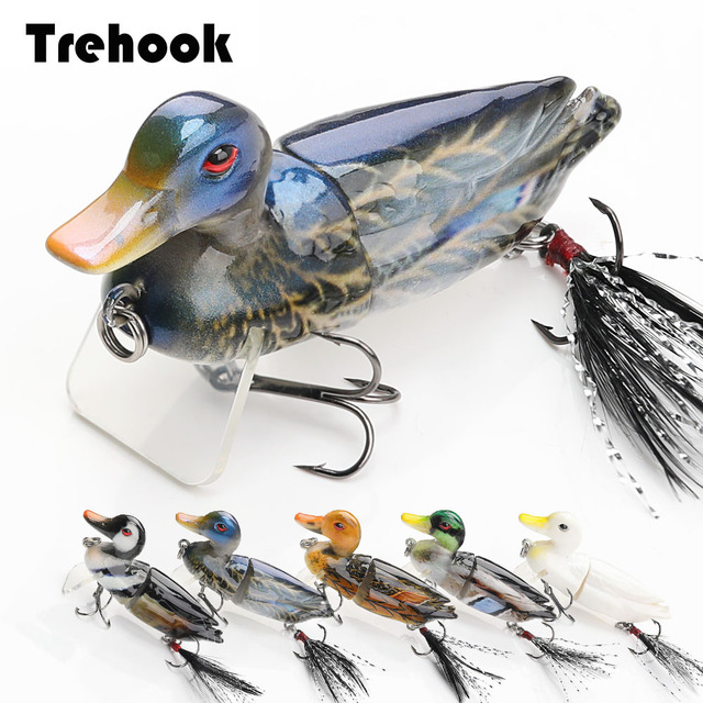 Trehook Eend Vissen Lokt Swimbait 7Cm 10G Drijvende Minnow Wobblers Voor Pike Vissen Kunstmatige Harde Aas Krukken Jointed wobler