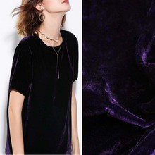 the United States Imports of True Velvet Cloth Deep Purple Velvet Plain Coloured Silkworm Silk Velvet Fabrics purple velvet