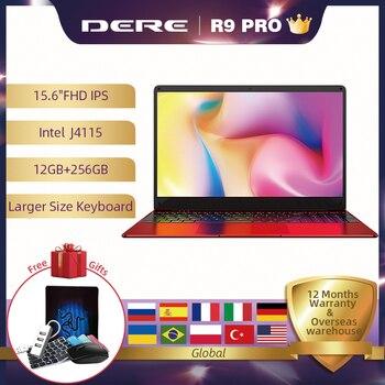 Diure-ordenador portátil R9 PRO de 15,6 pulgadas, 12GB RAM, 256GB ROM, SSD, Wndows, 10 pro, Intel Gemini lake J4115
