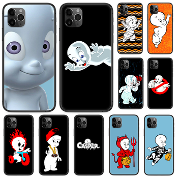 Cartoon Casper cute genius Phone case For iphone 4 4s 5 5S SE 5C 6 6S 7 8 plus X XS XR 11 12 mini Pro Max 2020 black hoesjes image