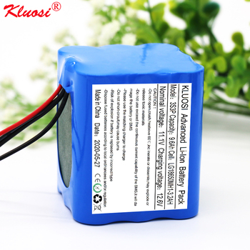 12V Battery 9.6Ah 11.1V/12.6V for LG18650MH1 KLUOSI 3S3P Pack with 25A Balanced BMS LED Lamp Electric Brick Electric Toy Car Etc