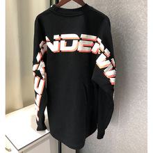 2019 Autumn Clothing with Long Sleeves Behind The New Loose Cove Pullovers Letter Fashion Black Woman Clothes Sweatshirts