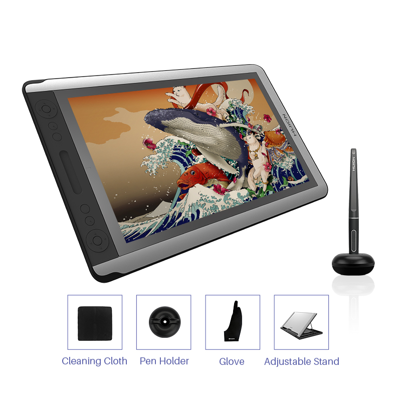 Graphics Drawing Monitor Pen-Display 8192 Digital Kamvas-16 GT-156HD V3 HUION with Levels