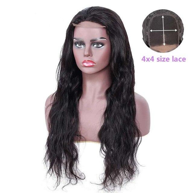 אריאל גוף גל סגירת 4 × 4 תחרה סגירת חום סגרים צבע טבעי ללא רמי שיער טבעי סגירת חתיכה פרואני פרונטאלית סגירה