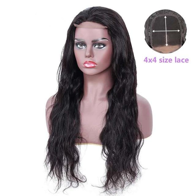 Ariel Body Wave 4 × 4 ปิดลูกไม้สีน้ำตาล Closures สีธรรมชาติ Non Remy Hair มนุษย์ปิดชิ้นเปรูปิดด้านหน้า