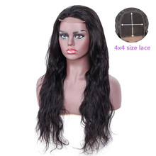 Transparent Lace Closure Human Hair Wigs Remy 4x4 Closure Wigs 150 Density Pre Plucked Brazilian Wig Body Wave Lace Closure Wig