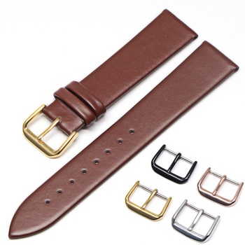 Genuine Leather Watchbands 18mm 20mm 22mm 24mm Black  Brown Women Men Cowhide Watch Band Strap Belt With Buckle genuine leather watchbands 18mm 20mm 22mm 24mm black brown women men cowhide watch band strap belt with buckle