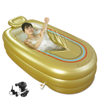 Extra Large Inflatable Bathtub Tub Adult Grown House Bathtub With Insulated Pillow with Electric Pump