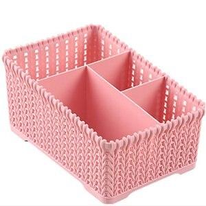 Desktop Shelves Storage Box Durable Plastic Makeup Storage Box Organizer Tissue Box Small Items Storage Case