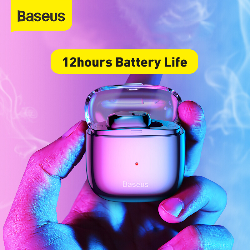 Baseus TWS Headphone True Wireless Bluetooth Earphone Mini Portable Single Wireless Earphone For Phone Call & Car Driving