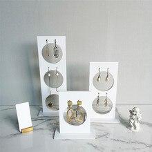 Вертикальный акриловый чехол-подставка для сережек, органайзер для сережек, держатель для сережек, полка для сережек, держатели для ювелирных украшений