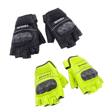 1 Pair Outdoor Sports Half Finger Motorcycle Gloves Anti-slip Gel Pad Retro Leather Cycling Motorbike Road Riding Protect Glove outdoor cycling riding half finger gloves blue pair size xl