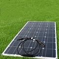 Супер полная мощность 100 Вт 18 в портативные солнечные панели, RV travel, кемпинг, домашние фотогальванические панели