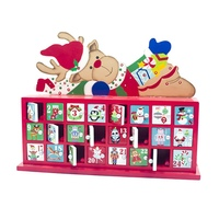 24 Drawers Christmas Countdown Candy House Gift Table Wooden Decor Calendar Storage Box Christmas Ornament Toy For Kids