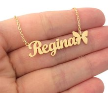 Personalized Custom Any Nameplate Customize Bar Necklaces for Women Engrave Word Letters Jewelry Bijoux Femme