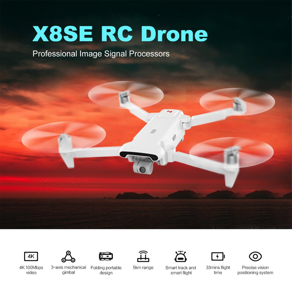 Exquisite X8 SE 5KM FPV RC Drone With 3-axis Gimbal 4K Camera GPS 33mins Long Flight Time RC Drone Aircraft RTF