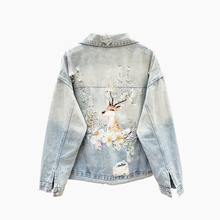 2020 Spring Autumn Denim Jacket Women Heavy Industry Embroidery Beaded Coat Women's Short Loose Slim Streetwear Fashion Clothes
