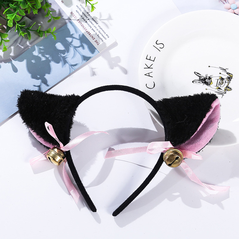Headband Bell Bow-Tie Party-Costume Masquerade Cat Ears Cat-Ear-Anime Cosplay Halloween