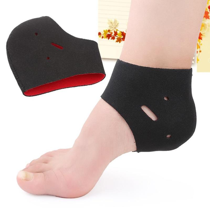 2 Pieces Socks Heel Protector Protective Sleeve Heel Spur Pads For Relief Plantar Fasciitis Heel Pain Reduce Pressure On Heel