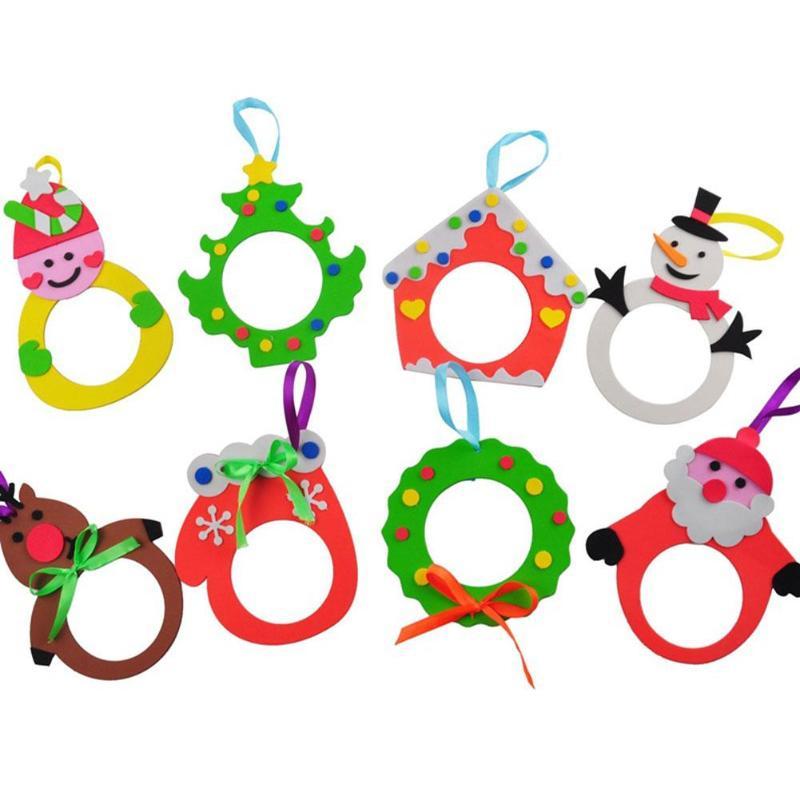 DIY Christmas Photo Skillful Manufacture Superior Quality Frame Materials Kit Kids Handmade EVA Xmas Picture Frames