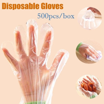 500pcs/box Cleaning Plastic Disposable Gloves for Restaurant Kitchen Accessories Cooking Eco-friendly Gloves Hot Wholesale