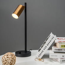 Postmodern Brass Bedroom Table Lamp LED Study Desk Lamp Adjustable GU10 Reading Light Office Lamp Home