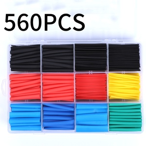 Image 1 - Heat Shrink wrapped Shrinking 127/164/328/560Pcs Insulation Sleeving Thermal Casing Car Electrical Cable shrink tube Tube kit