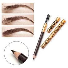 Leopard Eyebrow Pencil Waterproof Long Lasting Makeup Double-Head Eyebrow Pen & Brush Brown Brow Tint Make Up Tools Cosmetics