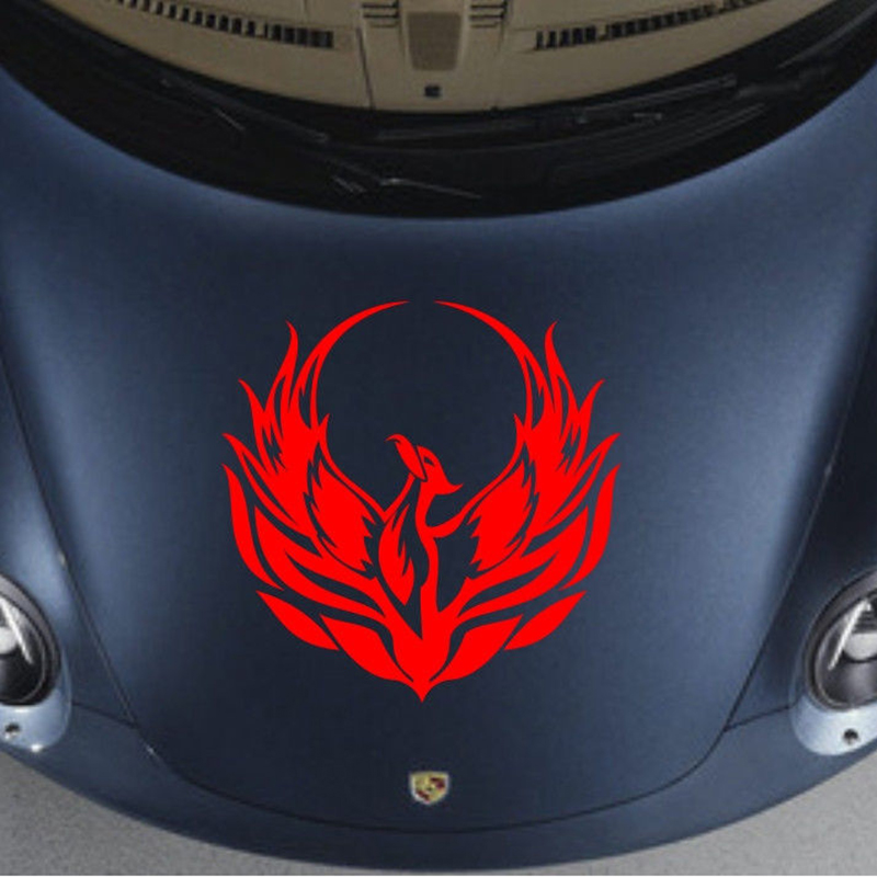 Pegatinas para capó de Fénix con diseño religioso para coche, calcomanías para capó, etiquetas delanteras de vinilo artístico