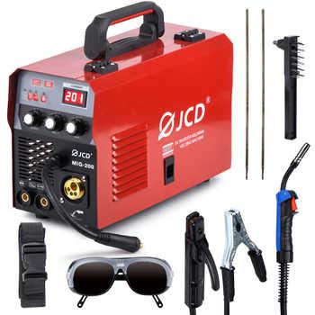 JCD 220V Mig Welder IGBT Smart MMA Stick DC Inverter 200/160A Arc Welder with Digital LCD Display for Beginner Welding Machine - DISCOUNT ITEM  50 OFF Tools