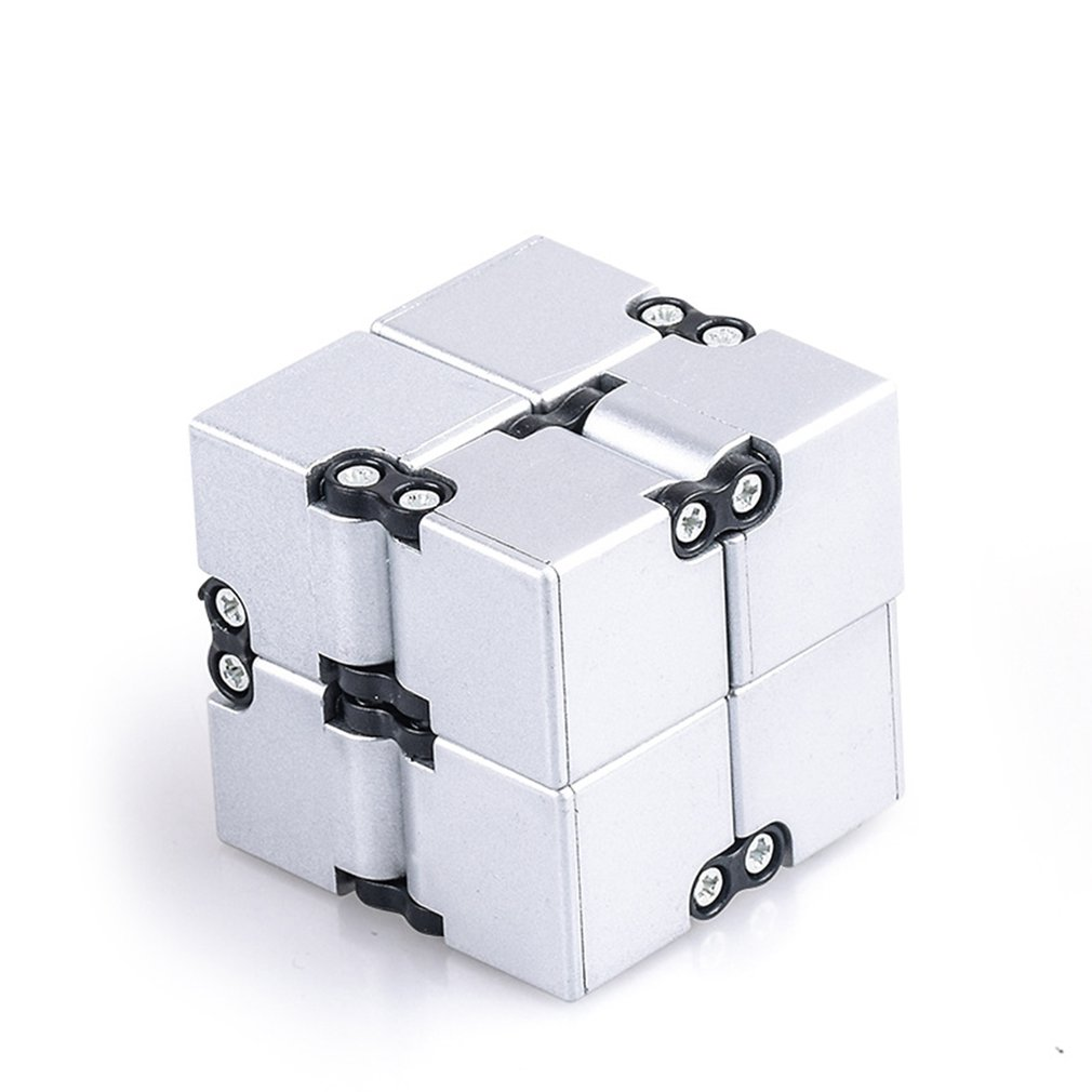 High Texture Infinity Cube Anti Stress Magic Cube Aluminum Alloy Professional Competition Speed Puzzle Adult Decompression Toys