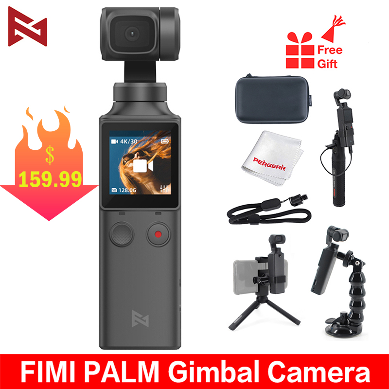 FIMI PALM 4K HD 3-Axis Handheld Gimbal Stabilizer 128     Wide Angle 120g Wi-Fi Control Cup Extension Holder Accessories Wholesale