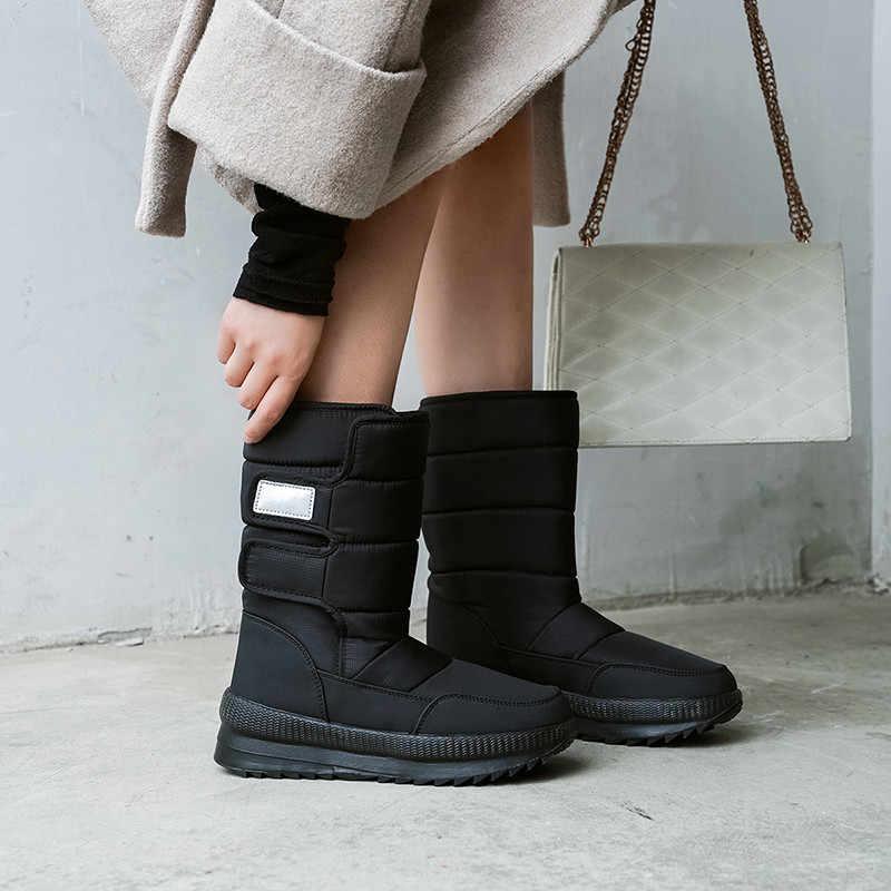 FEDONAS Klasik Kadın Pamuk Kar Botları Platformu Sıcak Çizmeler Ofis rahat ayakkabılar Kadın Kış Yeni Kadın Büyük Boy yarım çizmeler