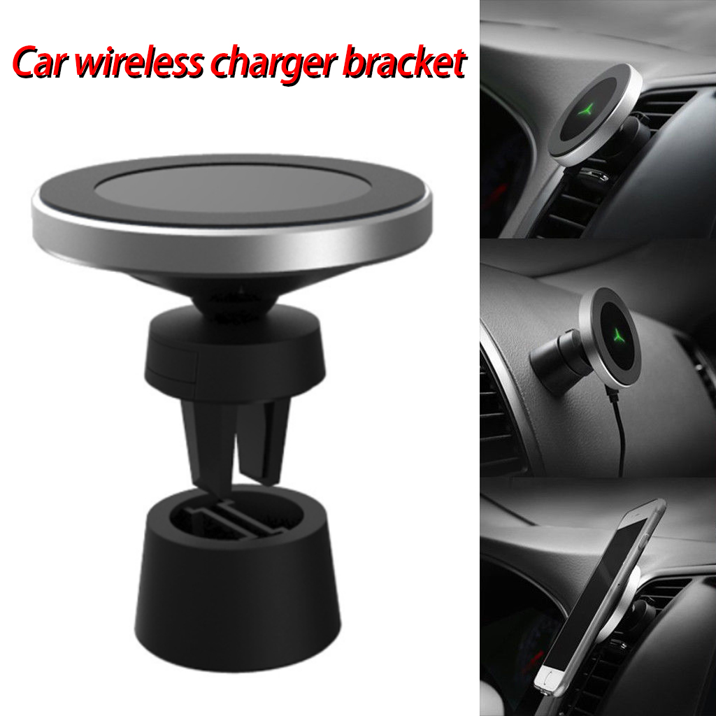 10W Magnetic QI Wireless Car Charger For IPhone Xs/XsMax/Xr/8plus Magnetic Phone Holder For Samsung S9 S8
