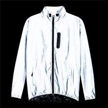 Bike Riding Sports Jacket Men Women Full Reflective Night Running Rainproof Warm Waterproof Windbreaker Jacket